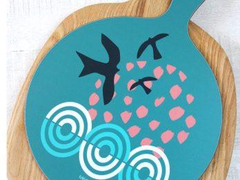 Birds Over Sea chopping board